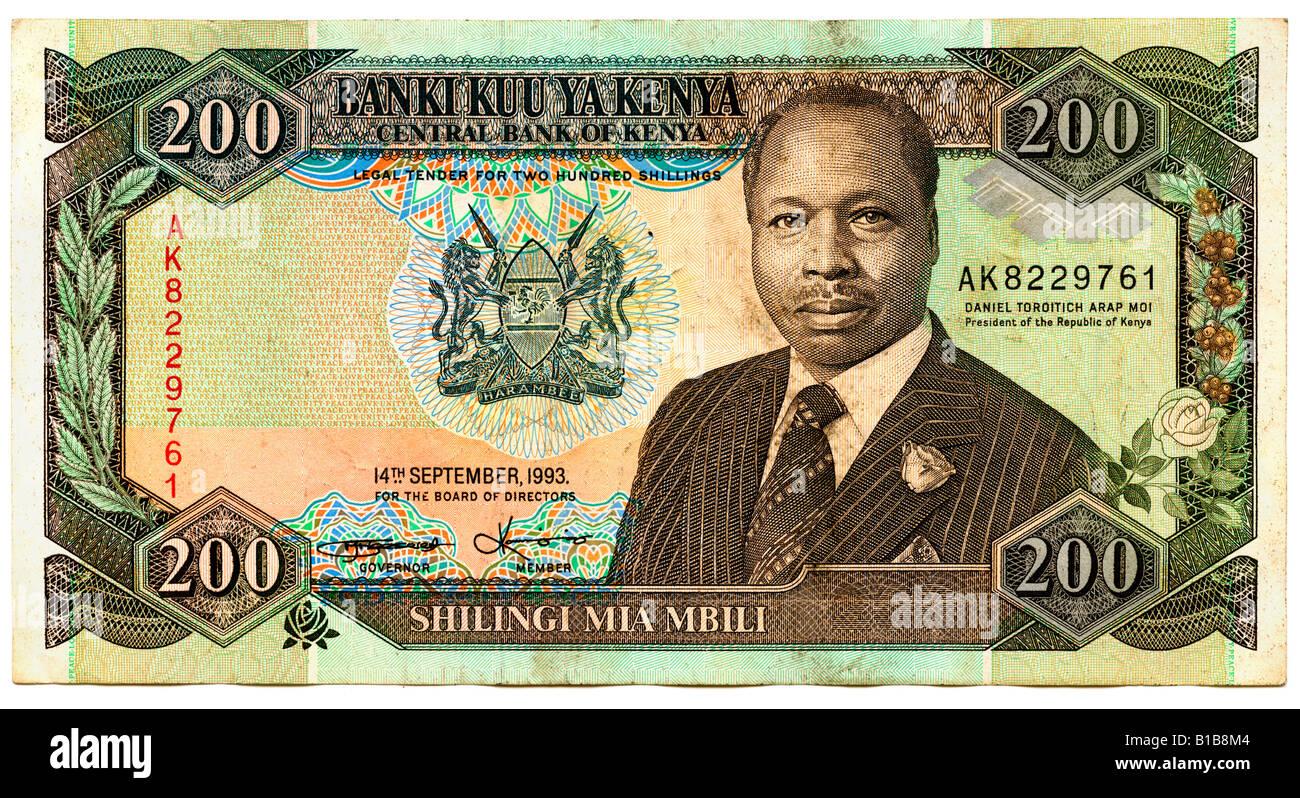Banknote, Kenya Shilling, close-up Stock Photo