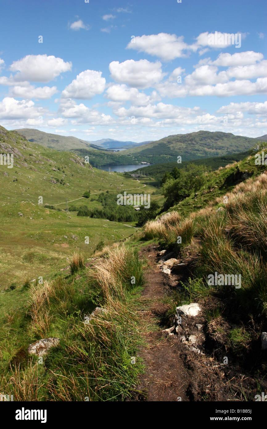 Looking East across Loch Lomond from Ben Vane s lower slope s - Stock Image