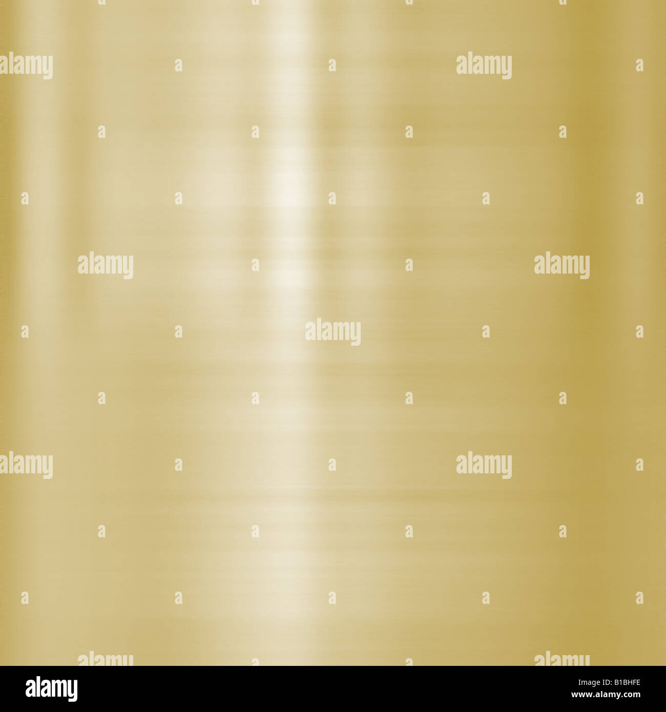 very finely brushed gold metal background texture - Stock Image