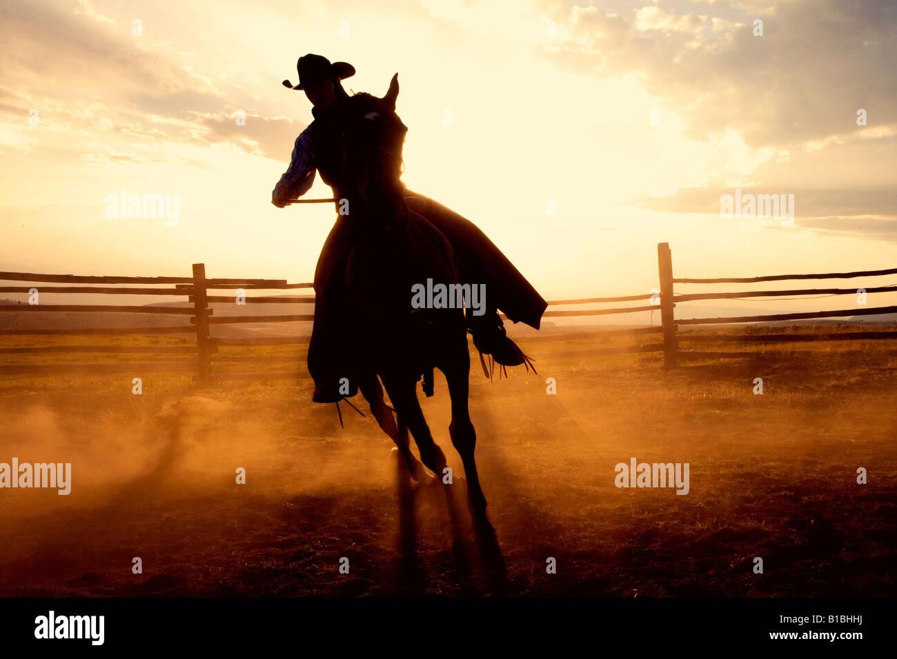 Dusty Work, Wyoming - Stock Image