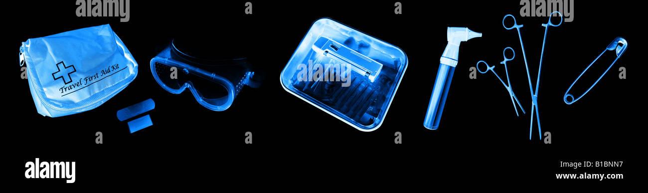 Xray Customs x-ray x ray xrays medical objects aid xraying ailment care computed doctor film health healthcare hospital - Stock Image