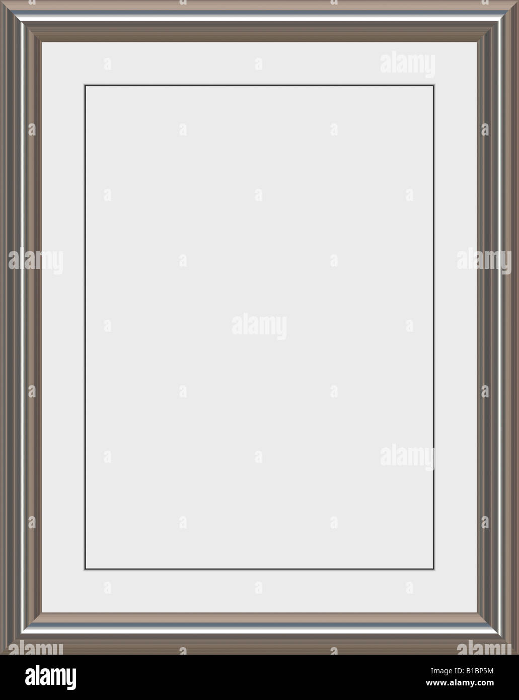 shiny metal frame with white matte for certificates awards or photos ...