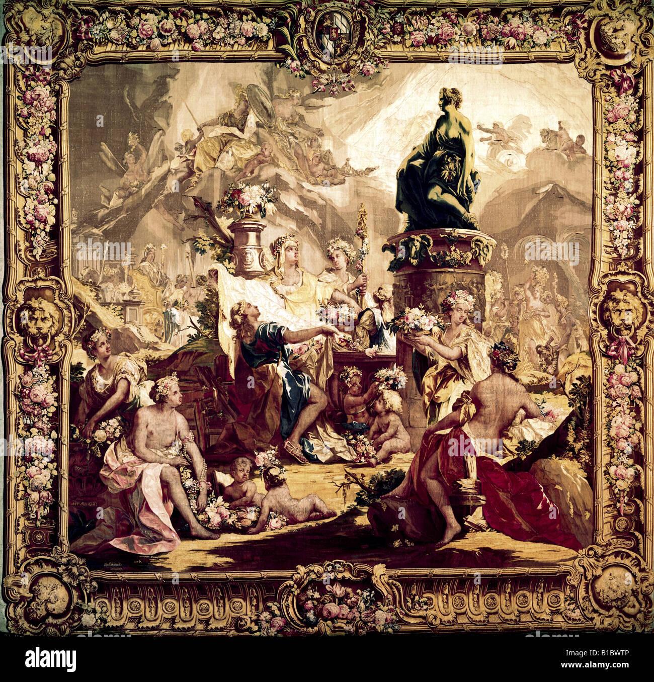 Fine Arts Carpets And Fabrics Tapestry Pagan Festival
