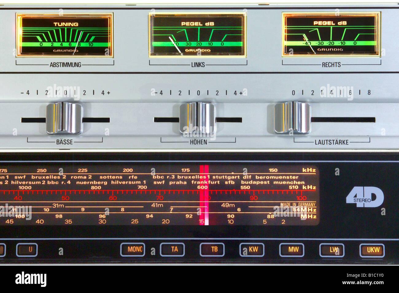 broadcast, radio, radio sets, type, typ Grundig RTV 820 HiFi Stock