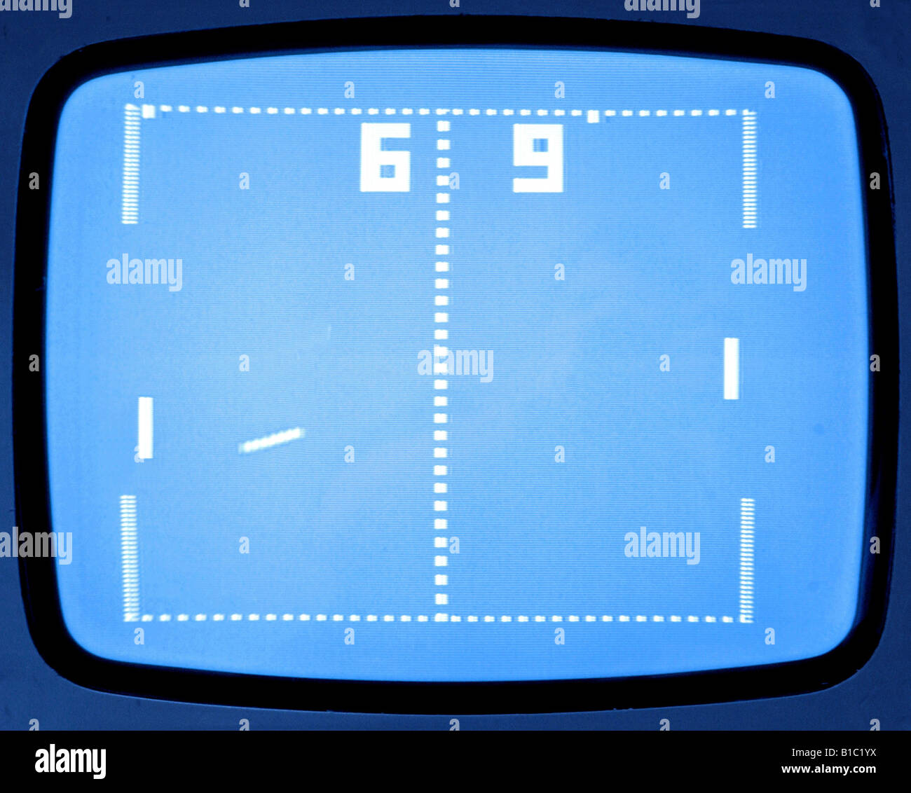 computing / electronic, games, first video game 'Pong', screenshot, Germany, circa 1975, Additional-Rights - Stock Image