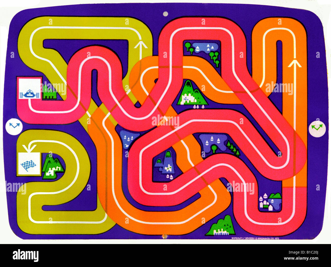 broadcast, television, video, game, tele game 'Wipeout', USA, 1972, Additional-Rights-Clearances-NA - Stock Image