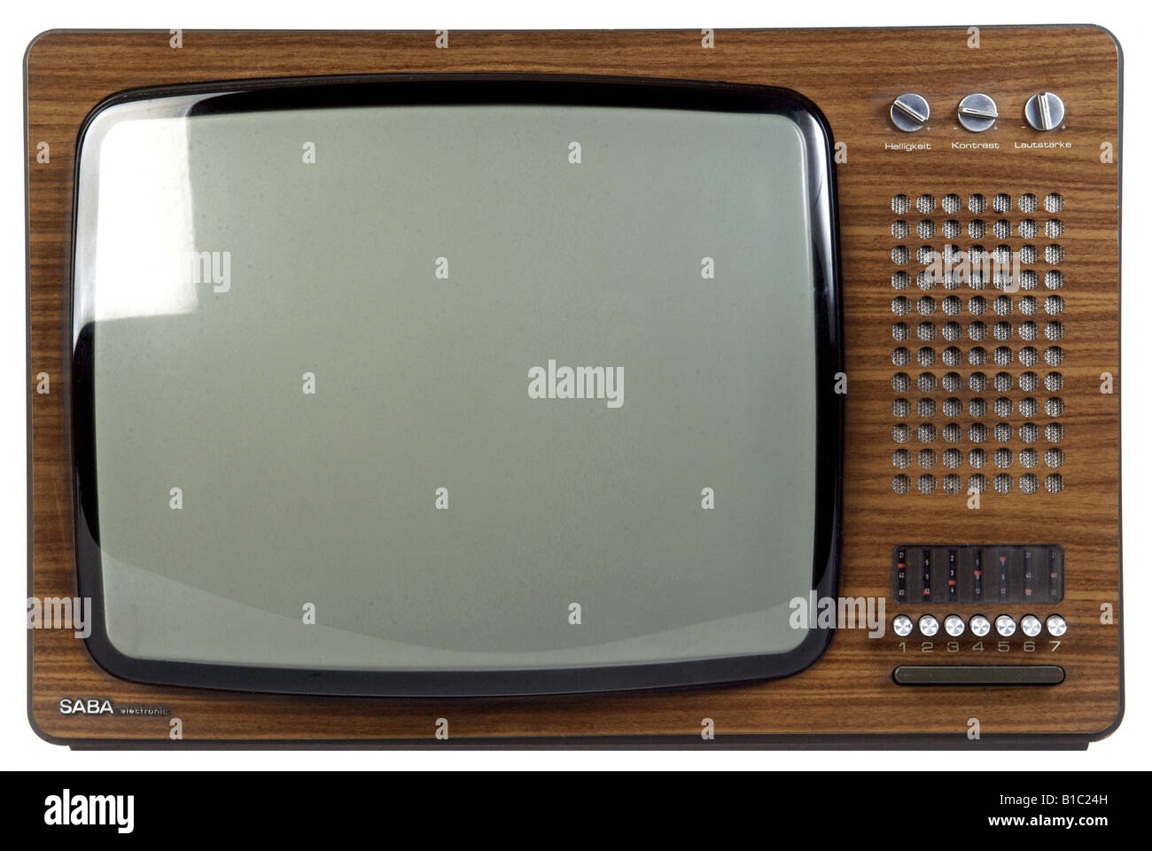 broadcast, television, TV set models, model ULTRA PSL 200 electronic, Germany, 1973, technic, technics, invention, - Stock Image