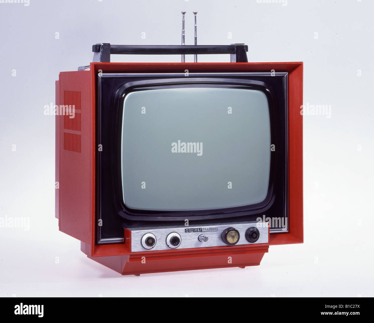 broadcast, television, technic, television nuclear Prandoni, Italy, circa 1974, Additional-Rights-Clearances-NA - Stock Image