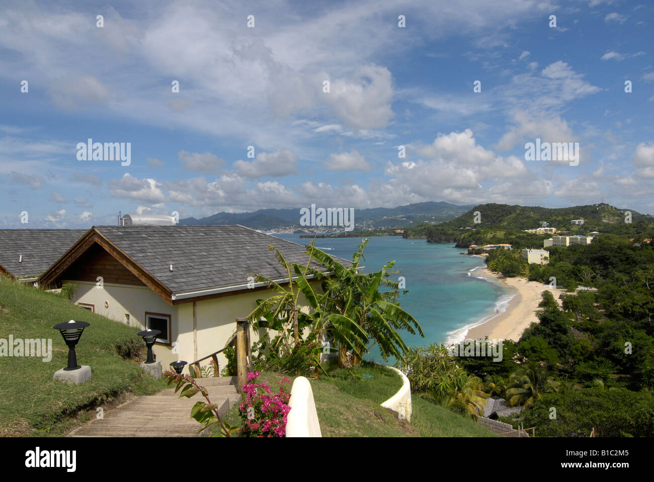 geography / travel, Grenada, landscapes, view from Maca Bana Hotel towards the island, Additional-Rights-Clearance - Stock Image