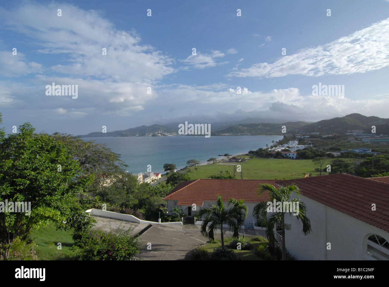 geography / travel, Grenada, landscapes, view from Mount Cinnamon Hotel towards the island, Additional-Rights-Clearance - Stock Image