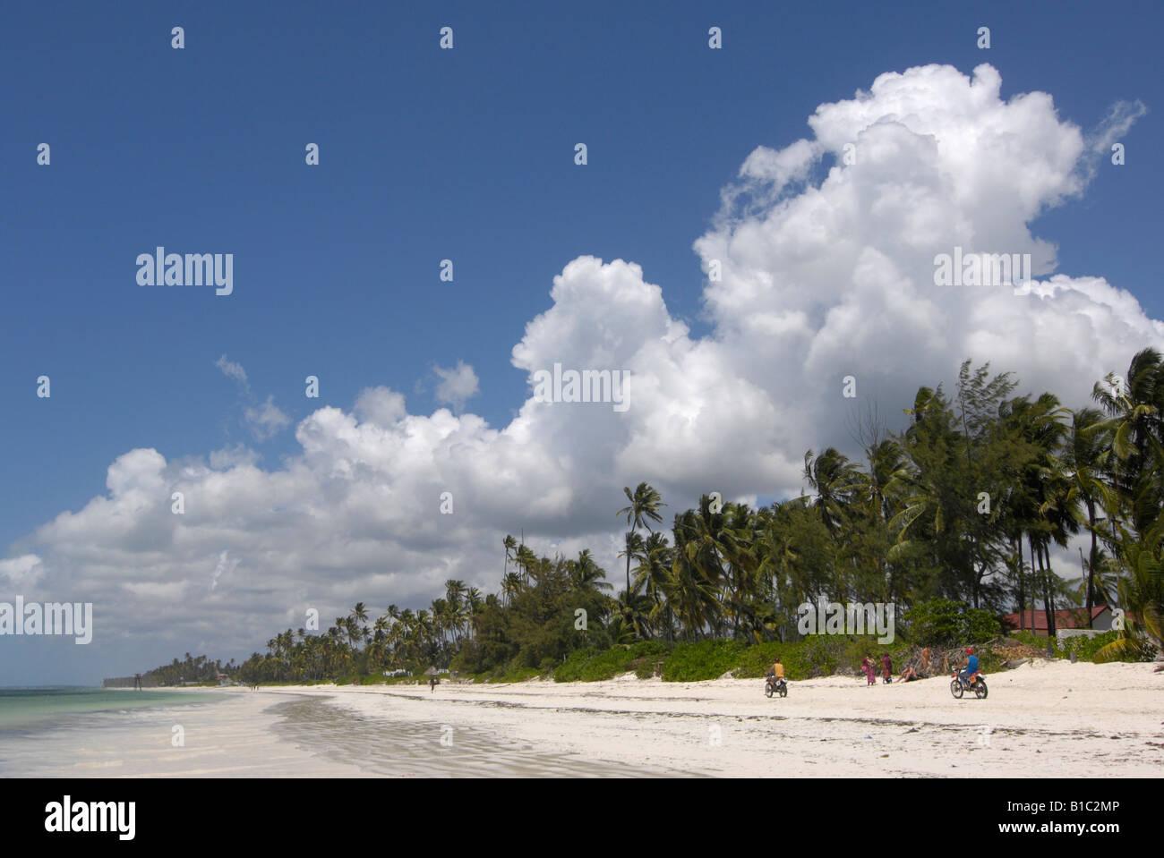 geography / travel, Tanzania, Bwejuu, Bwejuu Beach, Zanzibar, Additional-Rights-Clearance-Info-Not-Available - Stock Image