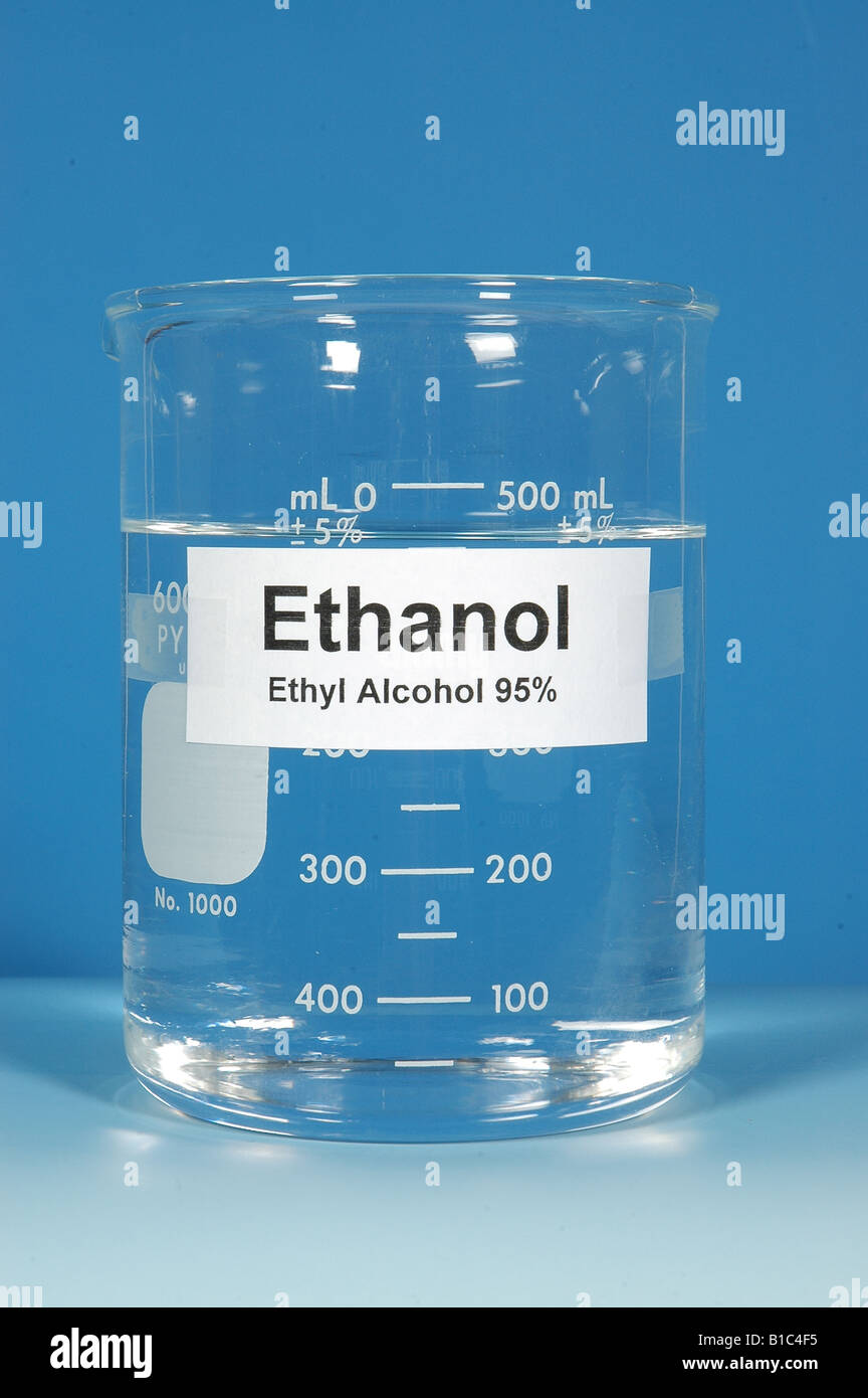 BEAKER OF 95% ETHANOL ALCOHOL, SPECIALLY DENATURED / STUDIO