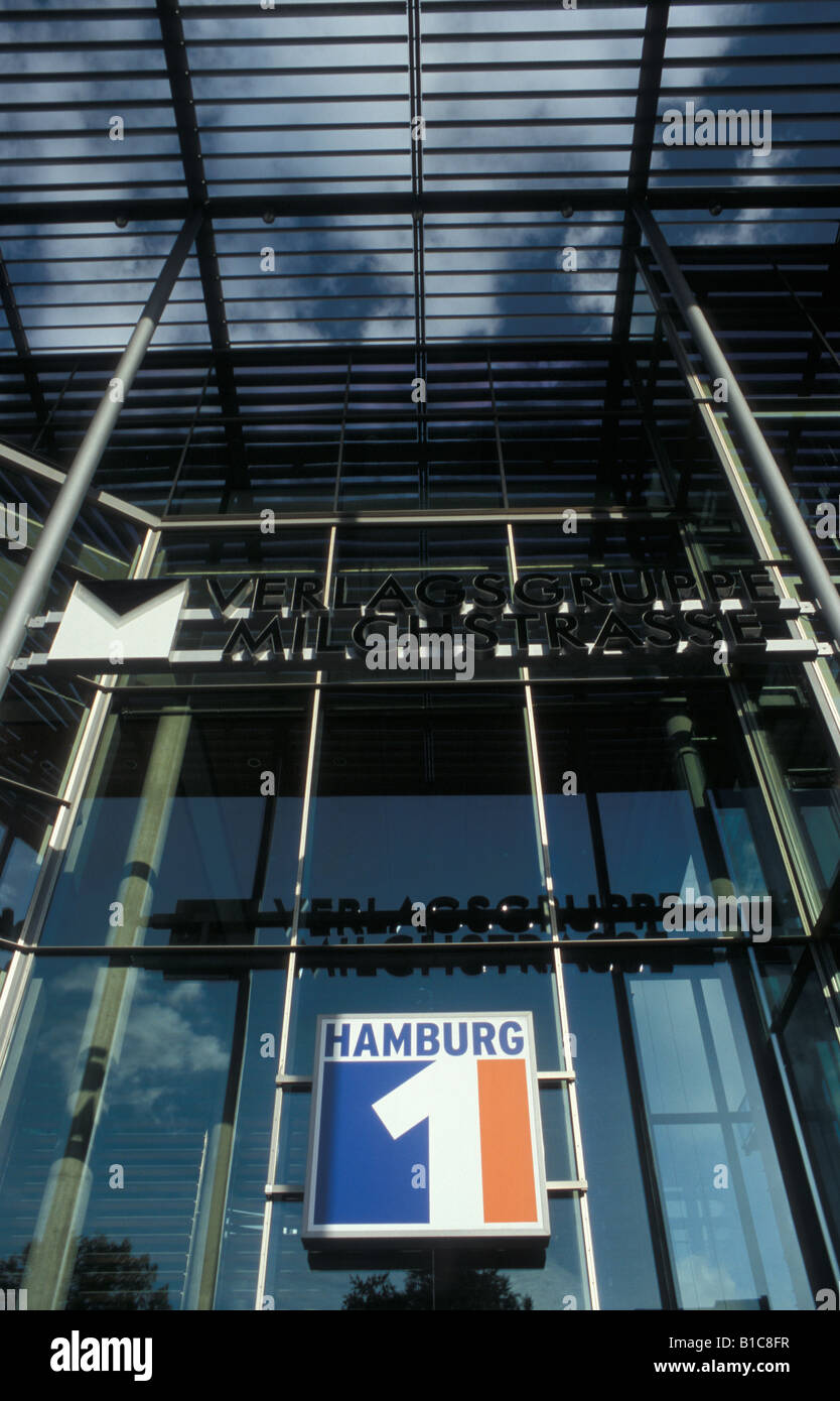 Regional TV station of Hamburg1 and production site of the 'Johannes B. Kerner show' in Hamburg, Germany - Stock Image