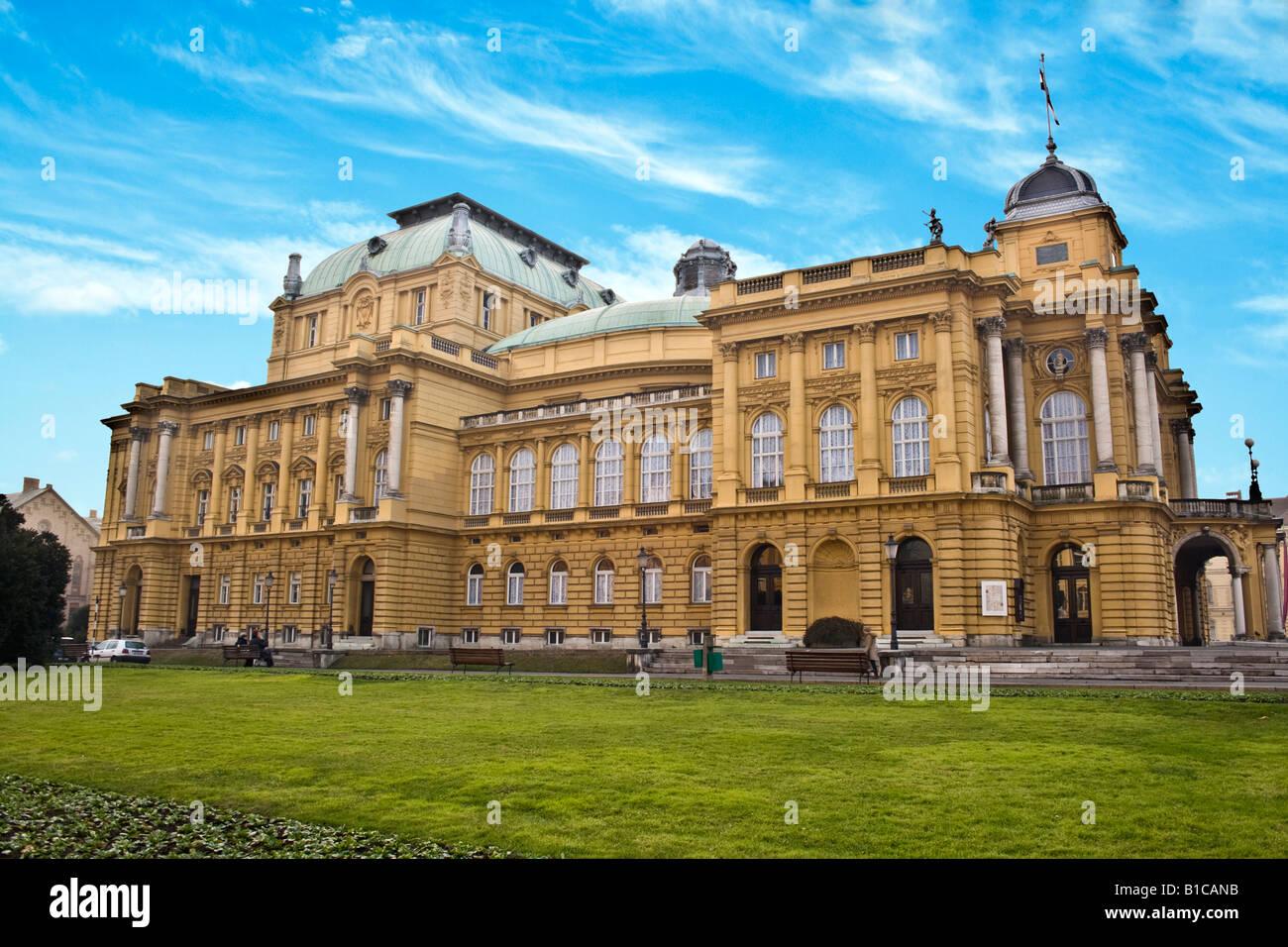 Zagreb, Croatia. National Theater in Zagreb. Stock Photo