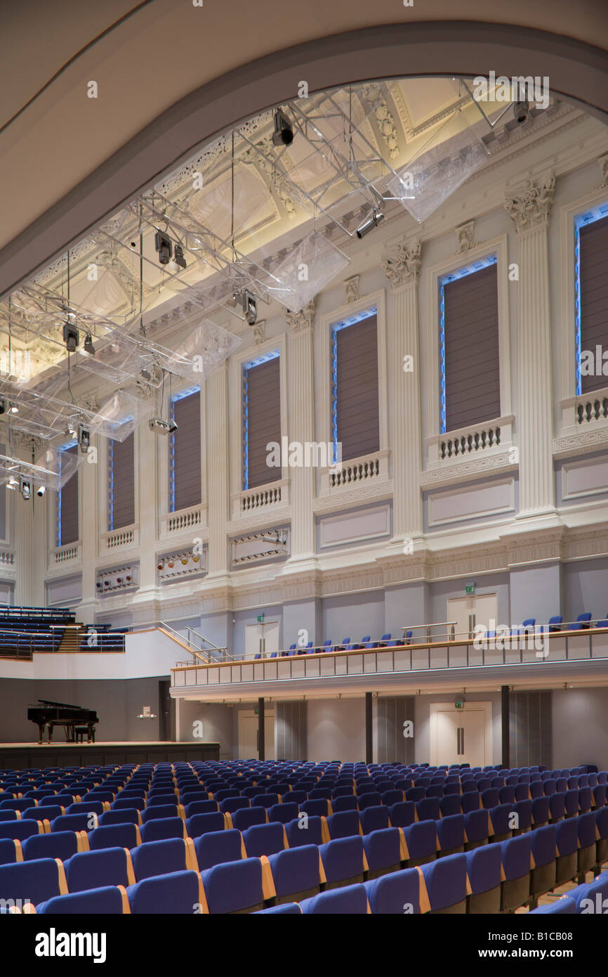 Birmingham Town Hall concert hall. Grade 1 listed building. - Stock Image