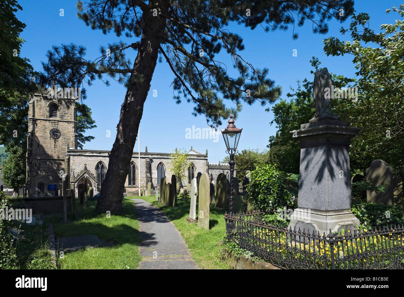 Parish Church, Castleton, Peak District, Derbyshire, England, United Kingdom - Stock Image
