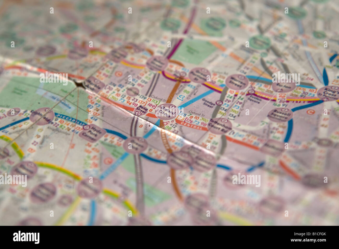 Oxford Circus Highlighted On A Map Of London Produced By Quickmap