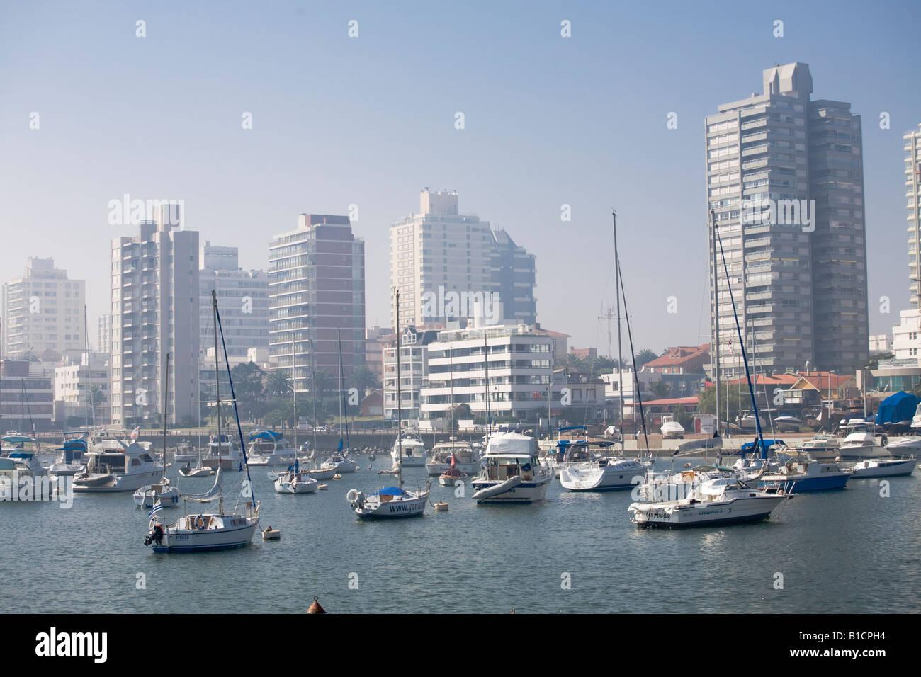 The port of Punta del Este Uruguay - Stock Image