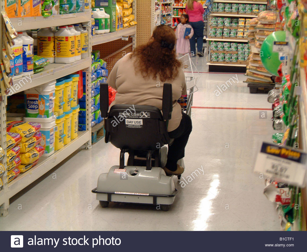 Fat Obese Woman On An Electric Shopping Cart Wal Mart Usa Walmart