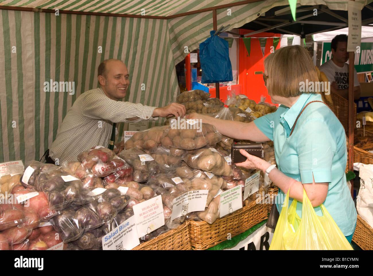 Farmers Market, Kensington, London, UK. - Stock Image