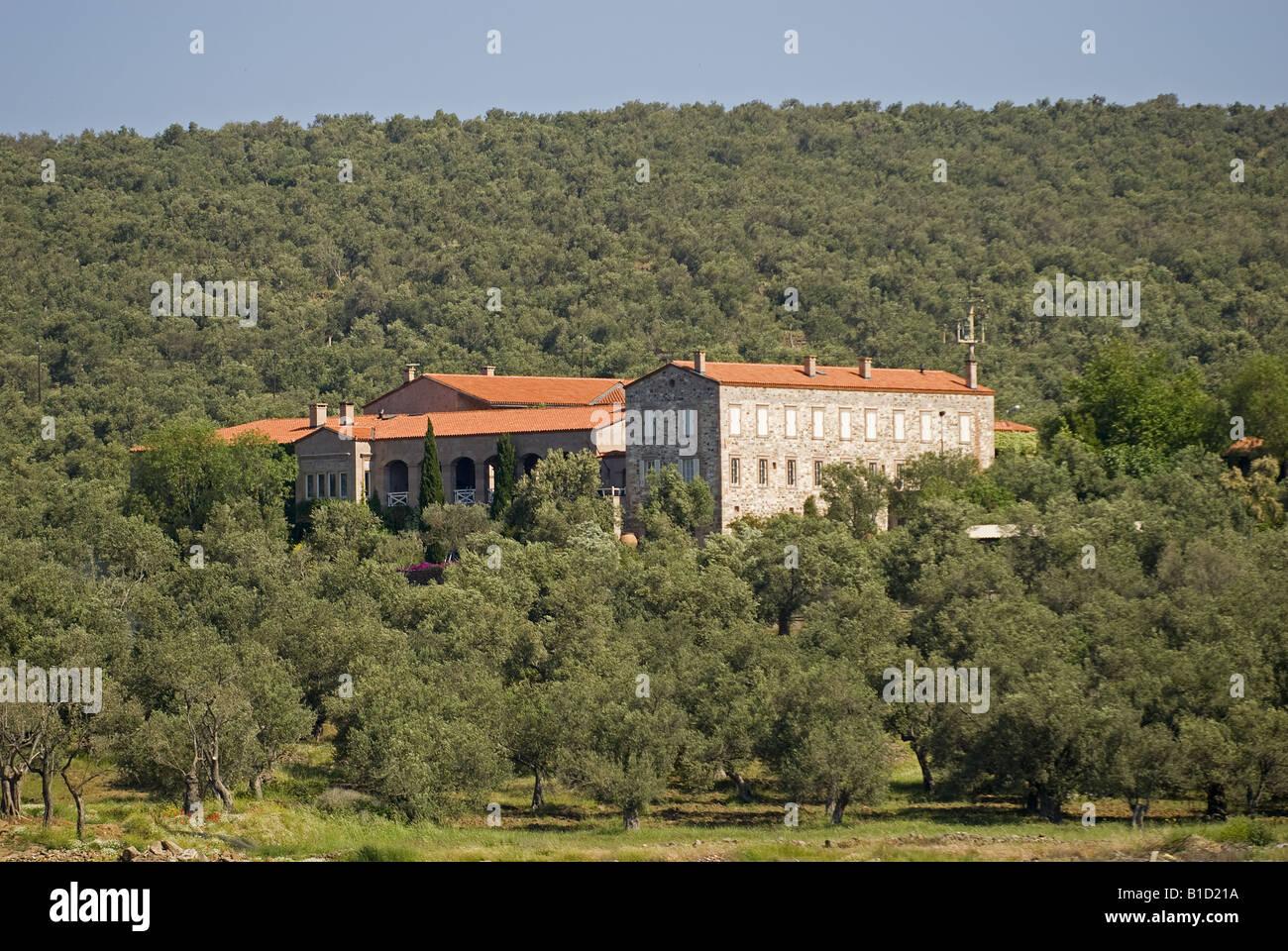 Private manor in Cunda Island Ayvalik Turkey - Stock Image