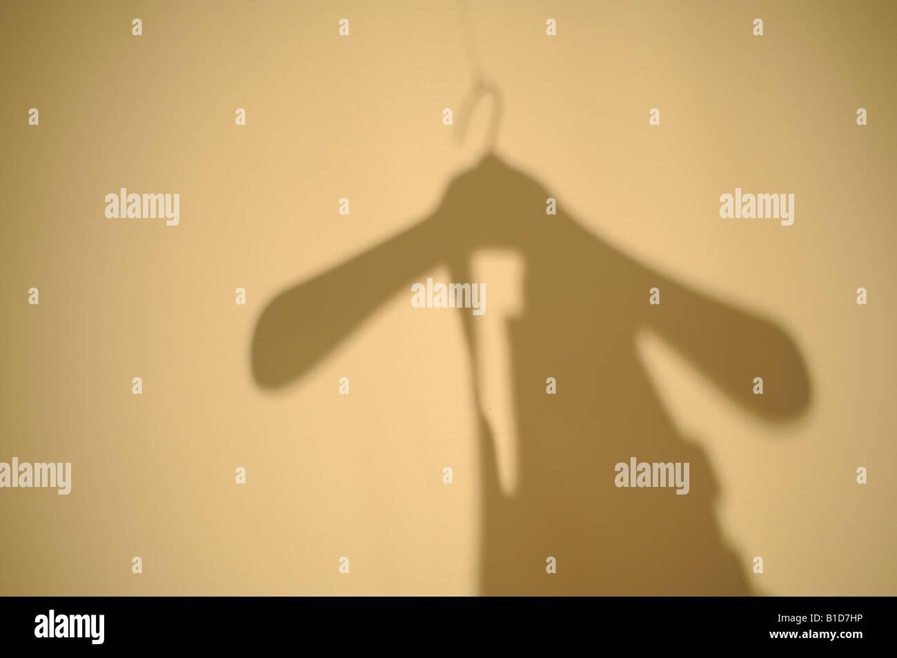 coat hanger - Stock Image