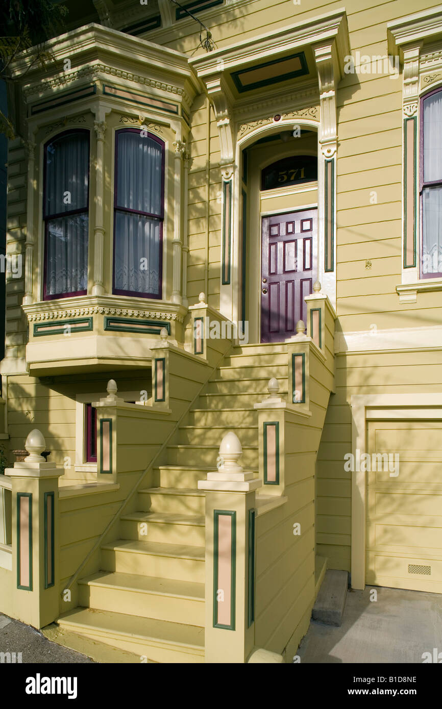 Victorian house Potrero Hill San Francisco California USA - Stock Image