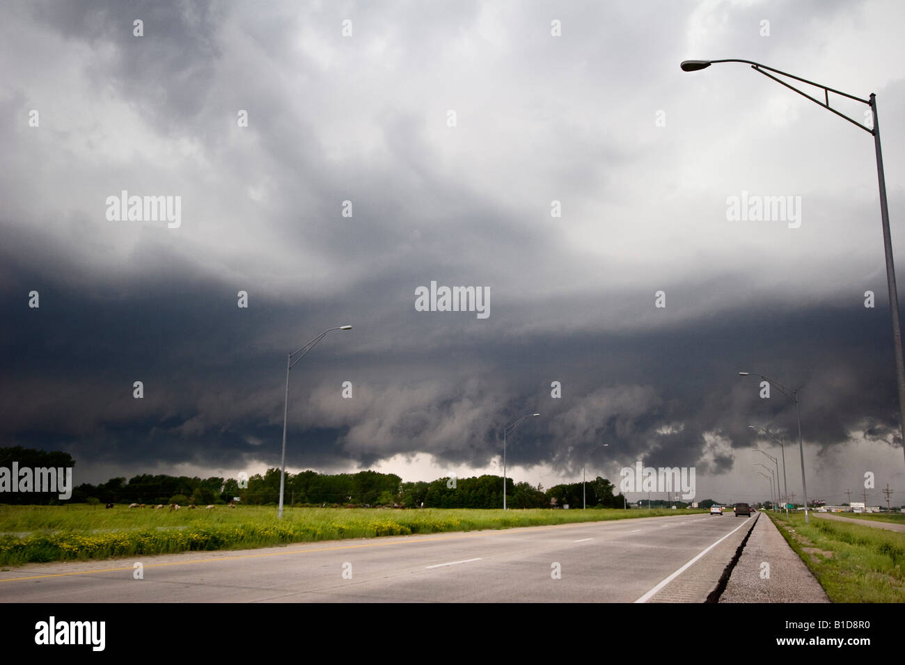 The low clouds of a squall line near Valley Nebraska June 11 2008 - Stock Image