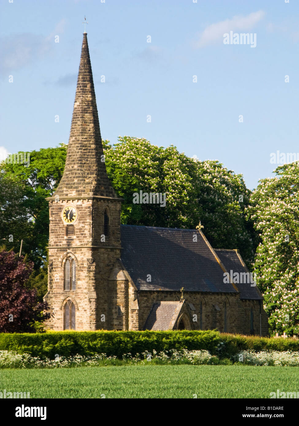 Country church of St Marks in Amcotts, North Lincolnshire, England, UK - Stock Image