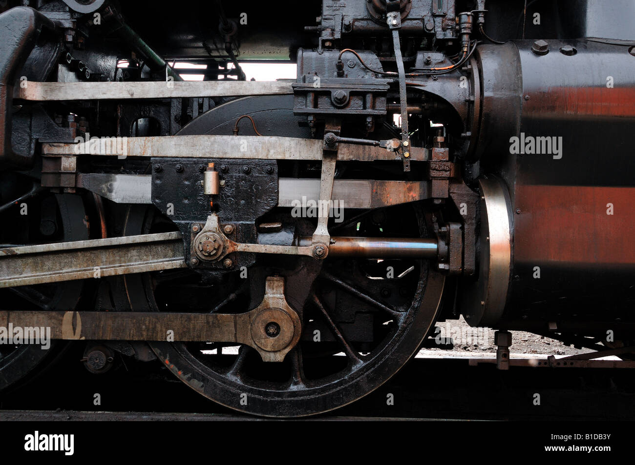 Locomotive Wheel - Stock Image