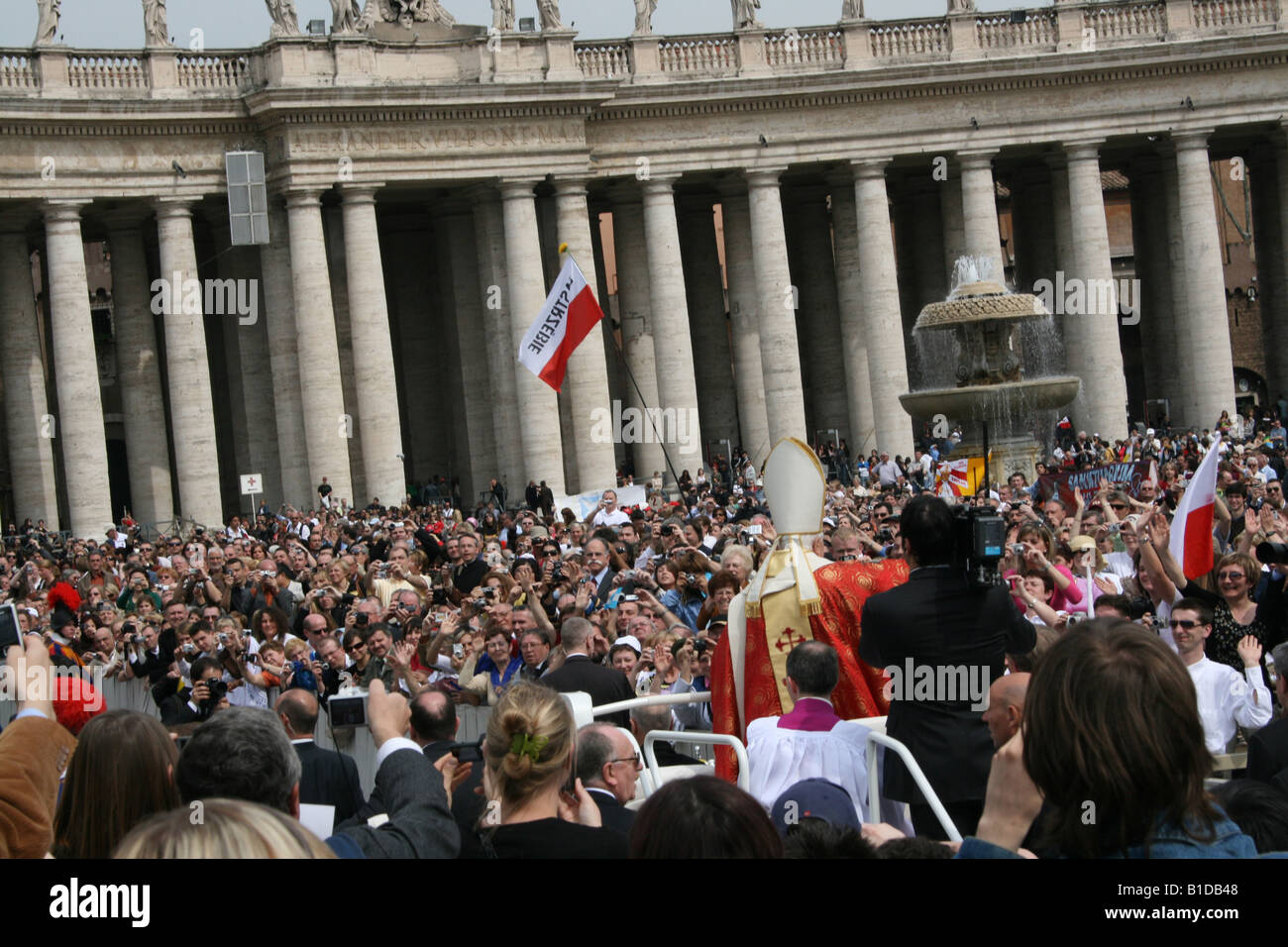 ITALY, ROME, VATICAN. Pope Benedict XVI Leads Special Mass on Anniversary of John Paul II s Death Wednesday April - Stock Image