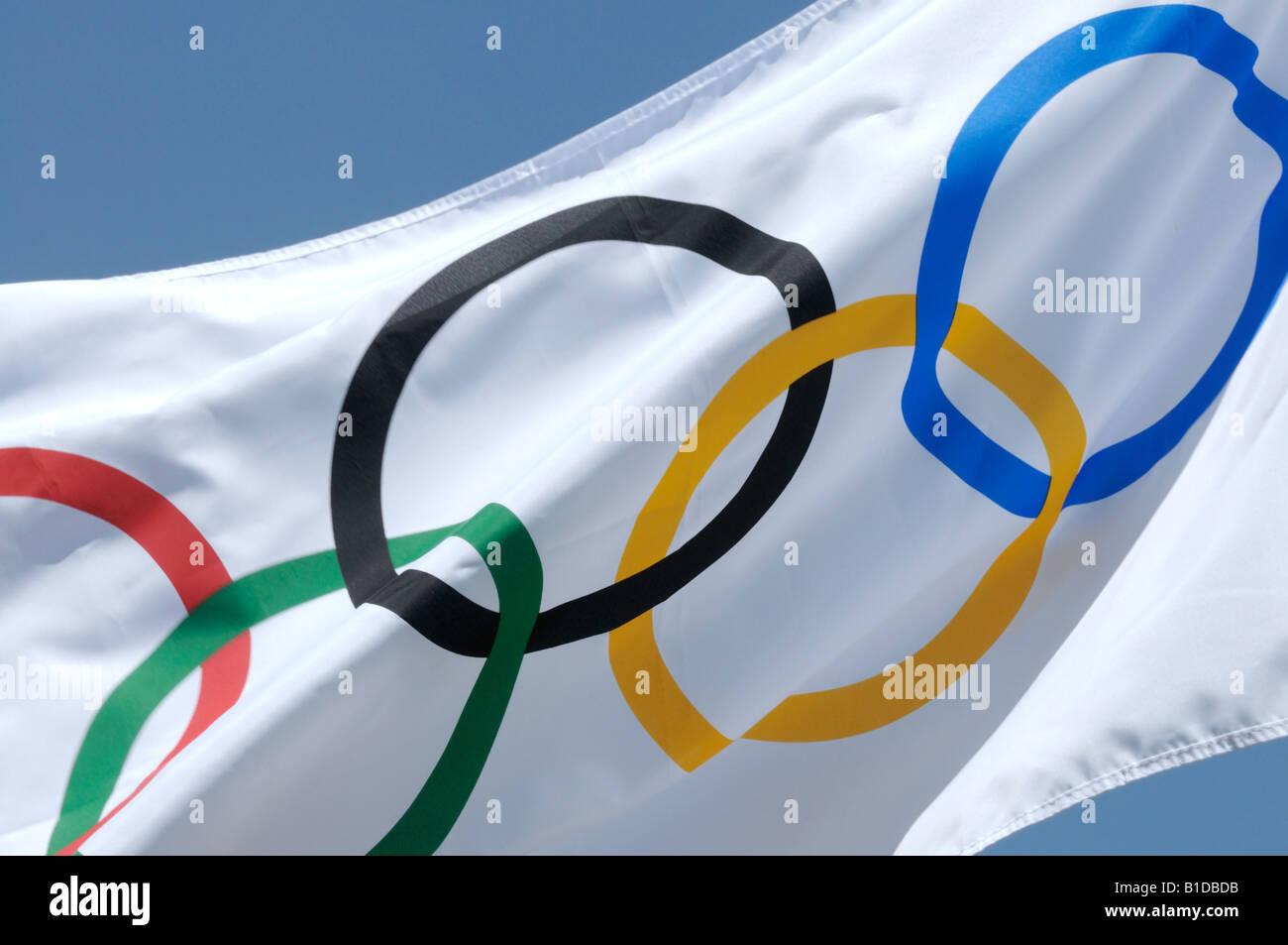 Olympic flag - Stock Image
