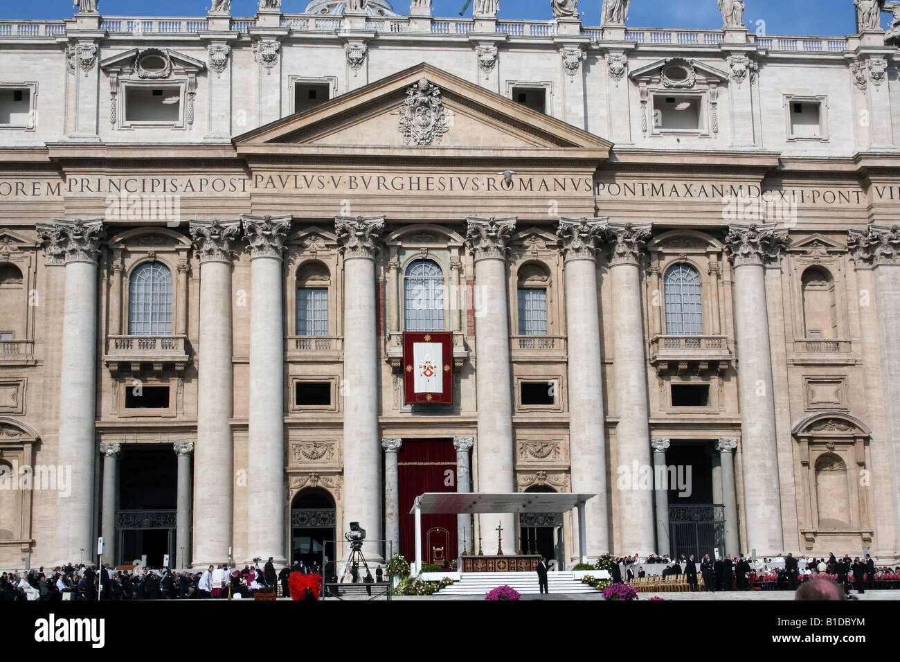 ITALY, ROME, VATICAN. Special Mass on Anniversary of John Paul II s Death April 02 2008 Leads by Pope Benedict XVI - Stock Image