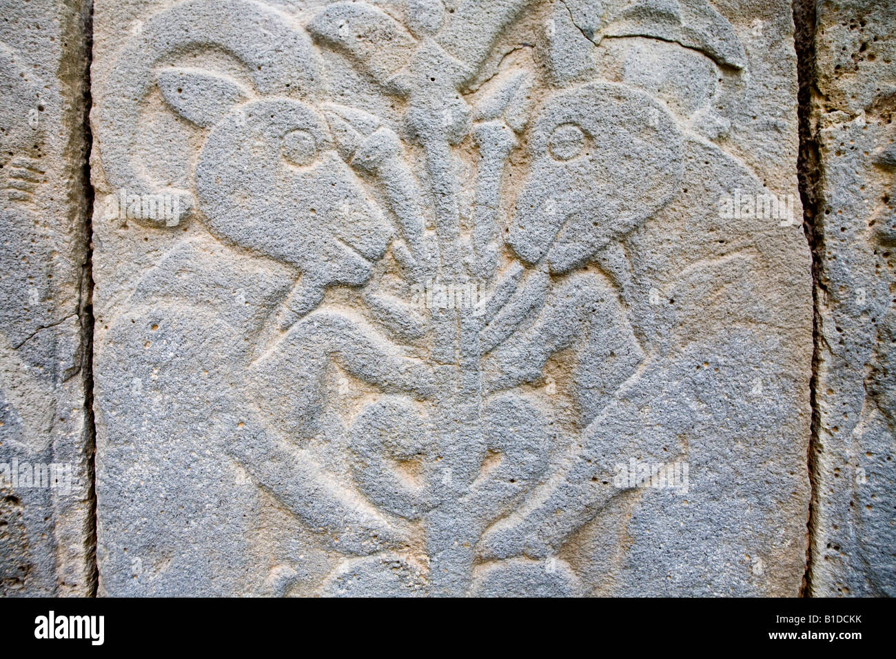 Relief block at the Late Hittite fortress of ancient Karatepe, Aslantas in the province of Adana, South Eastern Stock Photo
