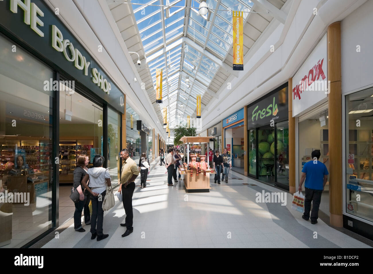 Kingsgate Shopping Centre, Huddersfield, West Yorkshire, England, United Kingdom - Stock Image