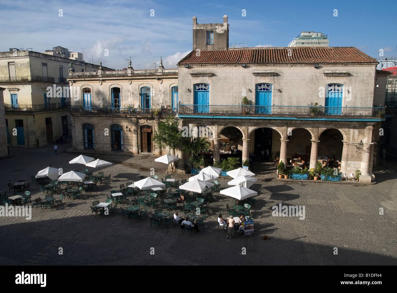 Havana La Habana Vieja Plaza de la Catedral Stock Photo