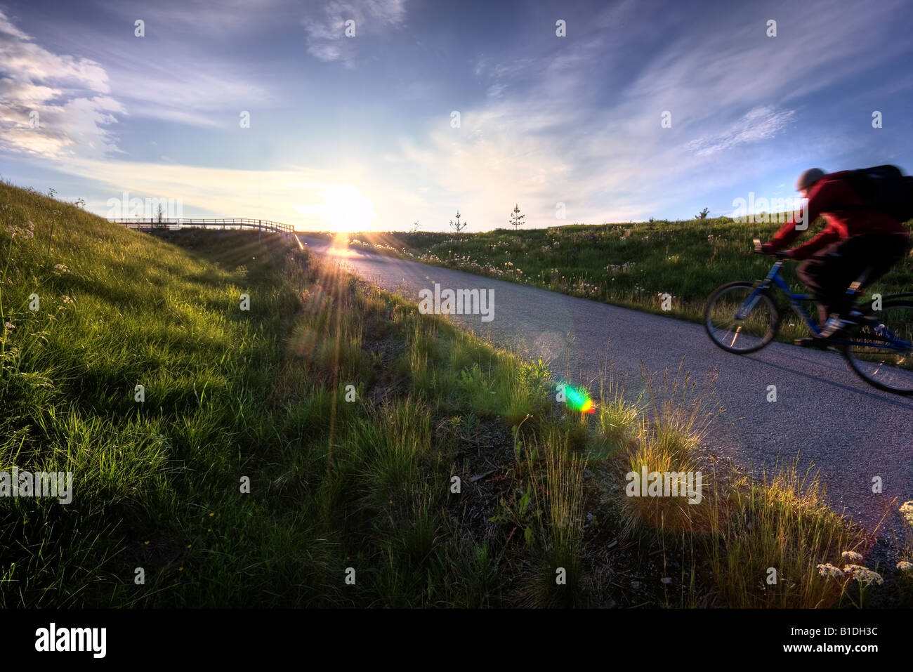 Bicycle ride - Stock Image
