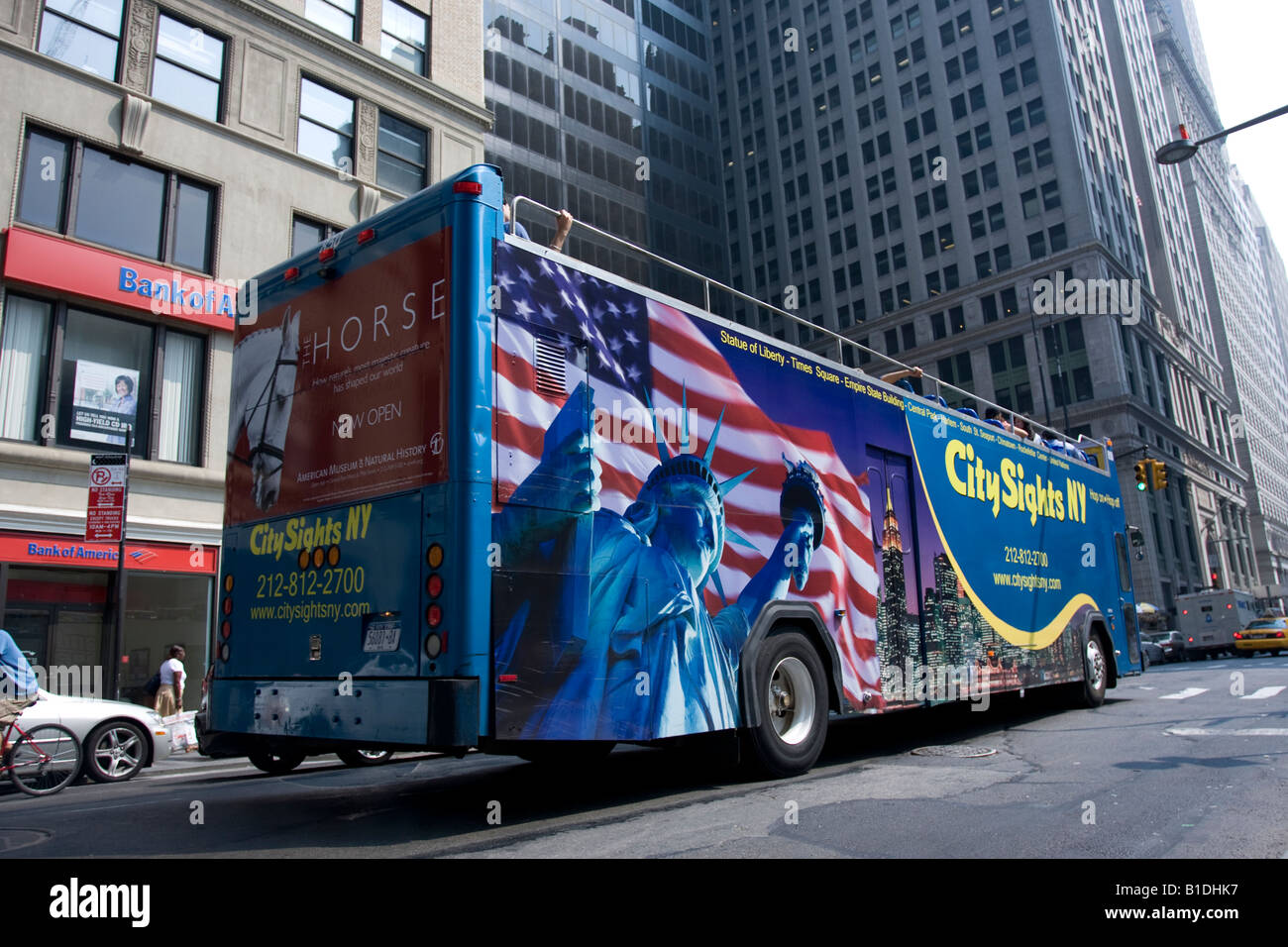 A City Sights tour bus in downtown NY - Stock Image