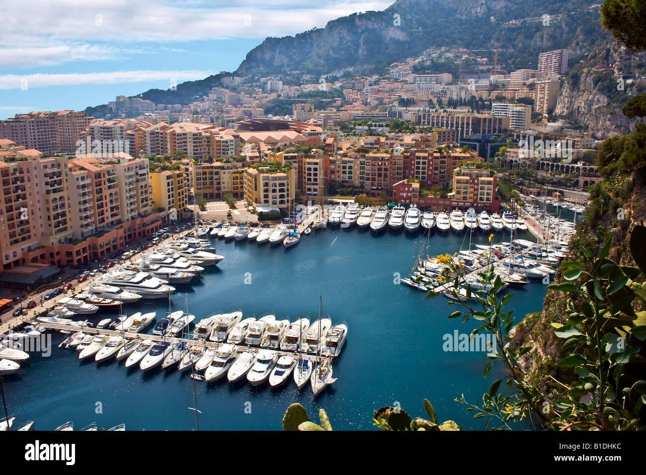MONACO, MONTE CARLO. Luxury bay in Monte Carlo Principality Monaco Europe - Stock Image