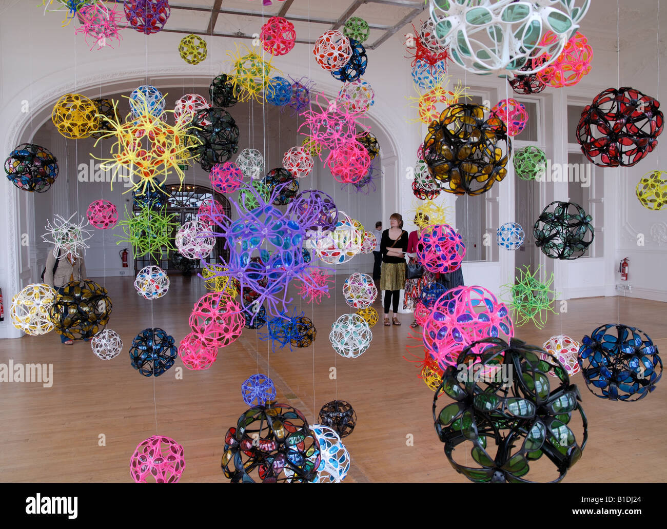 David Batchelor sculpture, Disco Mechanique, at the Metropole Gallery, Folkestone - Stock Image