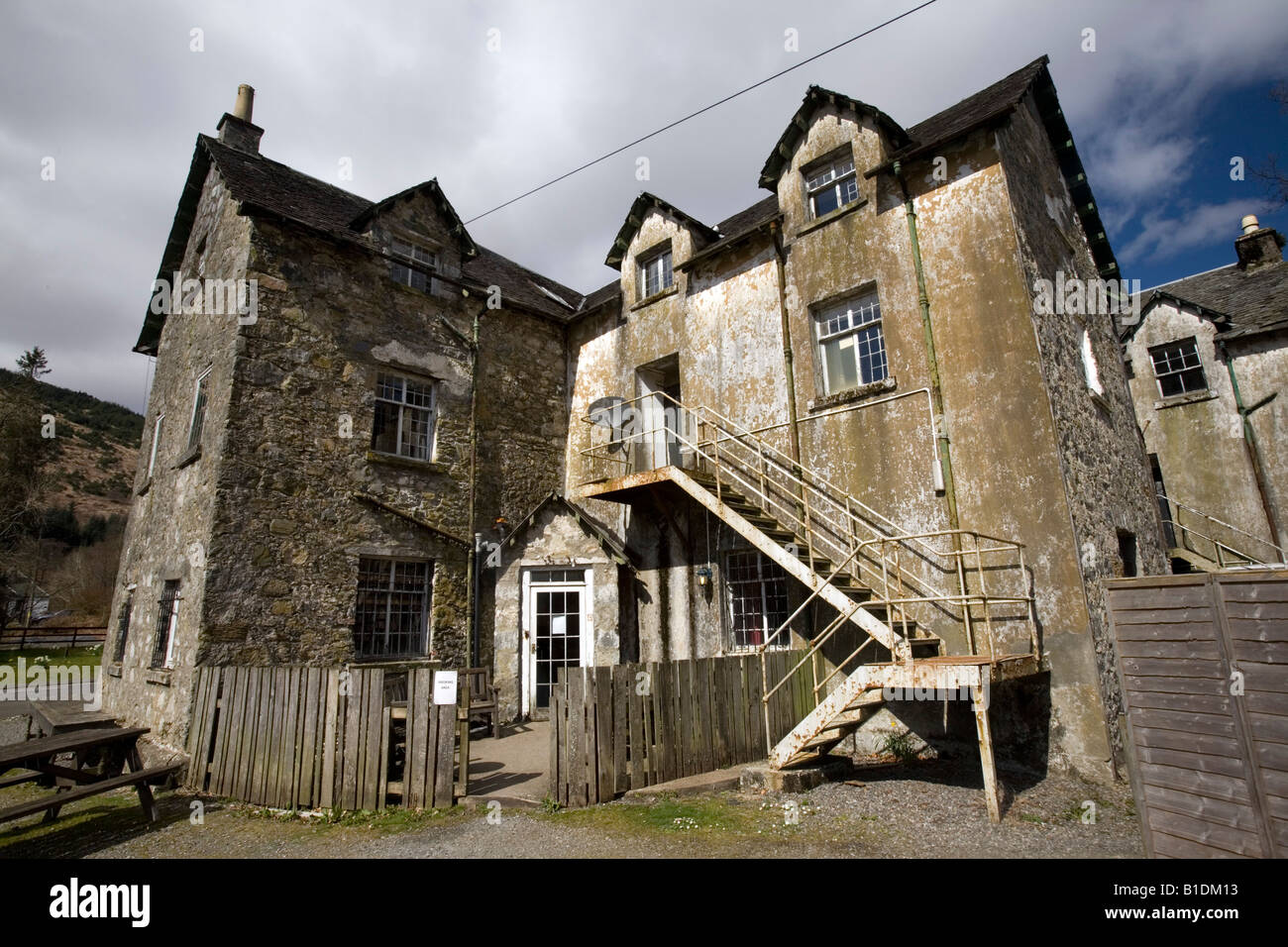 The Drovers Lodge near Loch Lomond is a famous stop on the way to the Northen Highlands in Scotland. - Stock Image
