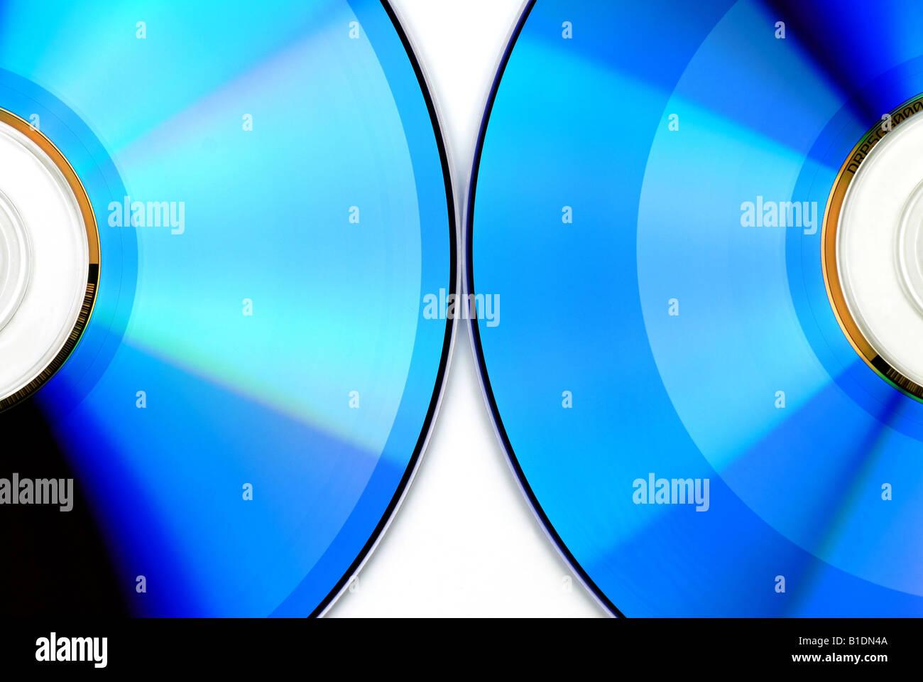 blue CD - Stock Image