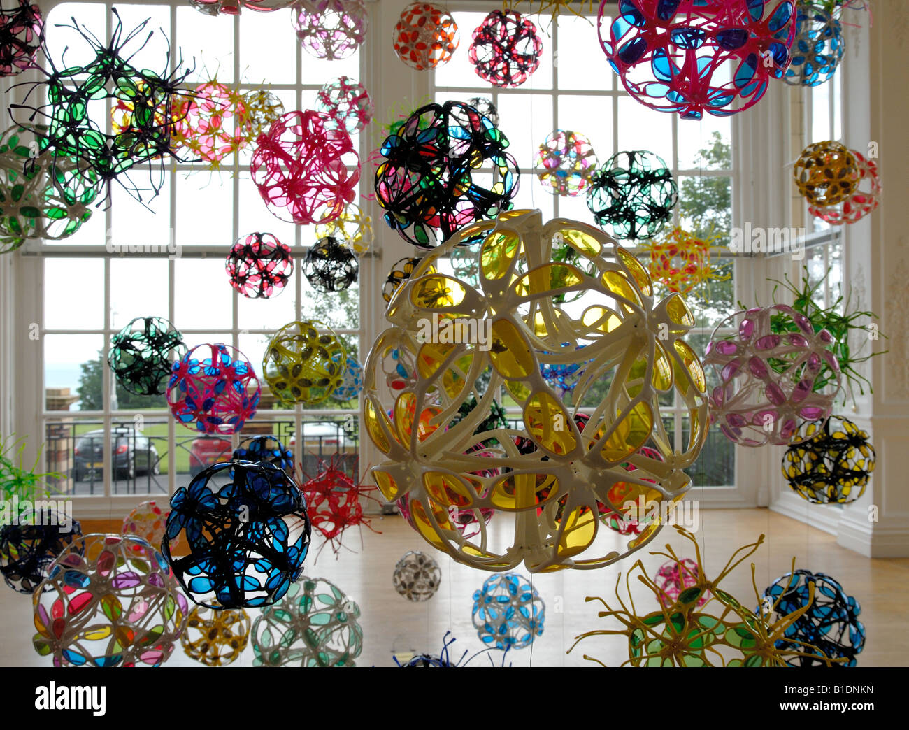 David Batchelor 'Disco Mecanique' sculpture at the Metropole Gallery, Folkestone - Stock Image