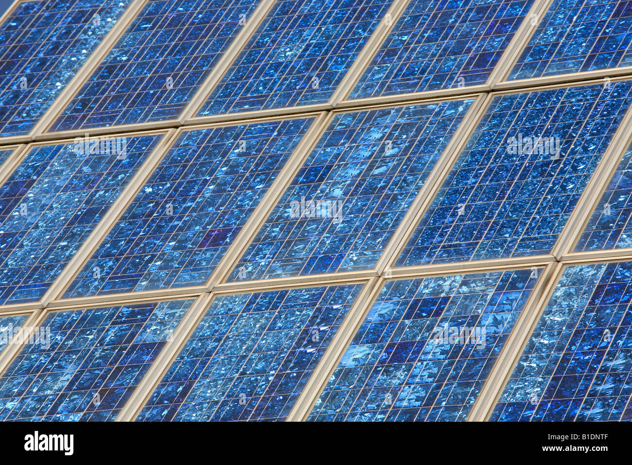 panel of a solar power plant - Stock Image
