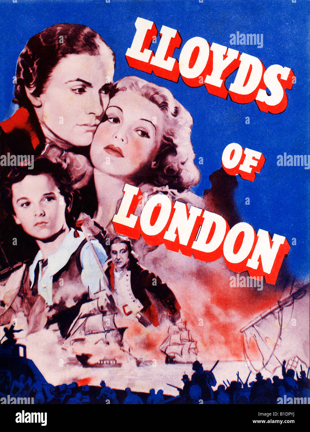 Lloyds Of London Poster For The 1936 Film 18th Century History