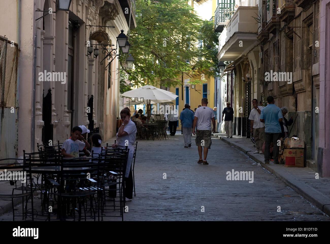 Sreet in La Habana Vieja - Stock Image