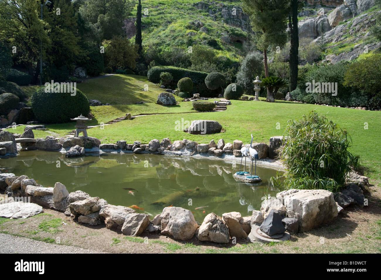 Israel Jezreel Valley Kibbutz Heftziba Japanese Garden Built By The Stock Photo 18130360 Alamy