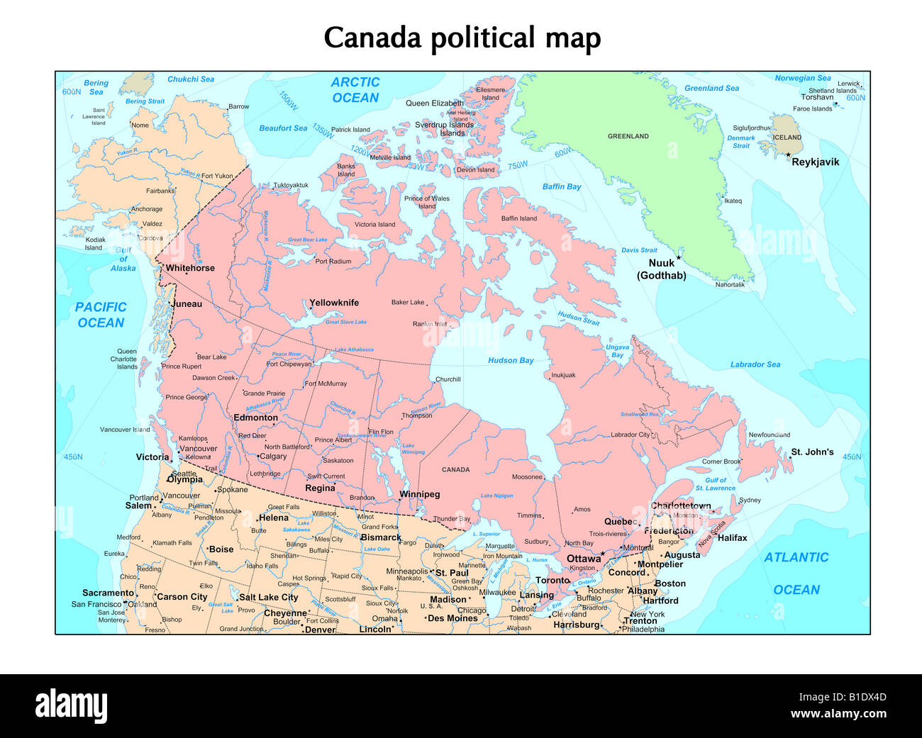 Picture of: Canada Political Map Stock Photo Alamy