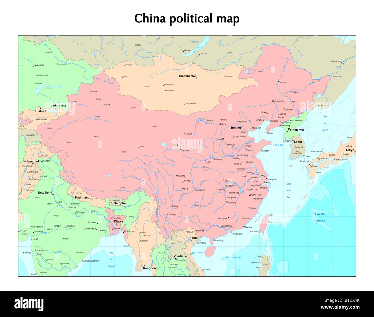 China Political Map Stock Photo 18130915 Alamy