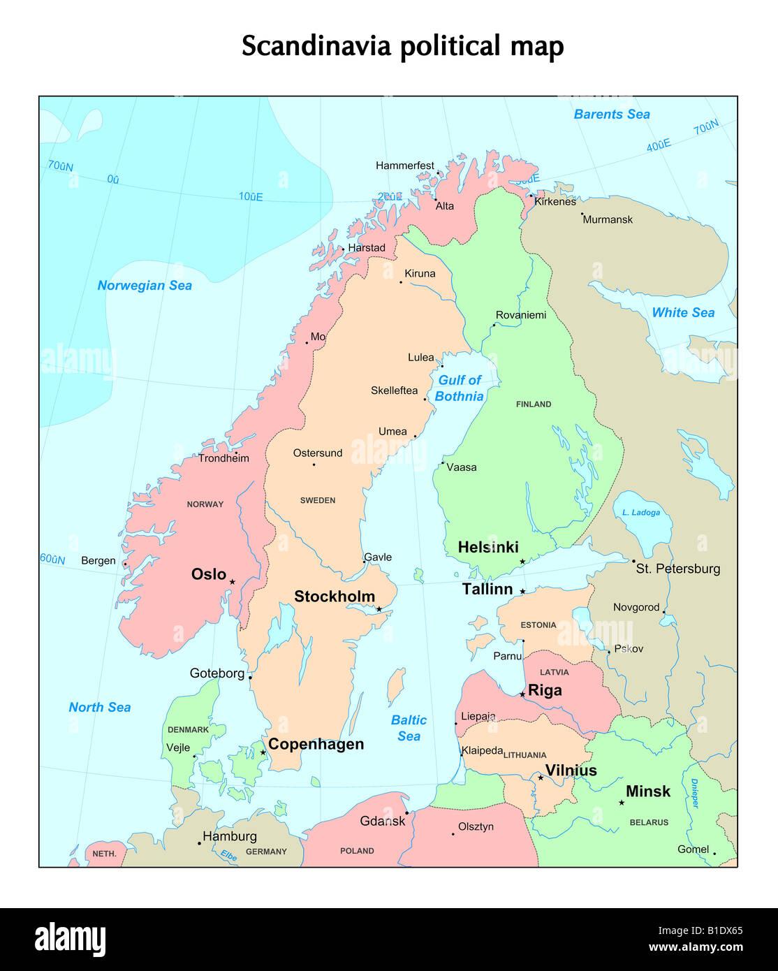 Scandinavia Map Stock Photos & Scandinavia Map Stock Images ...